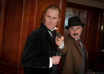 Sherlock Holmes and Dr Watson Murder Mystery Actors Inside