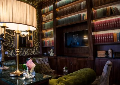 The Library at the Bonham Hotel Edinburgh. Drinks reception space