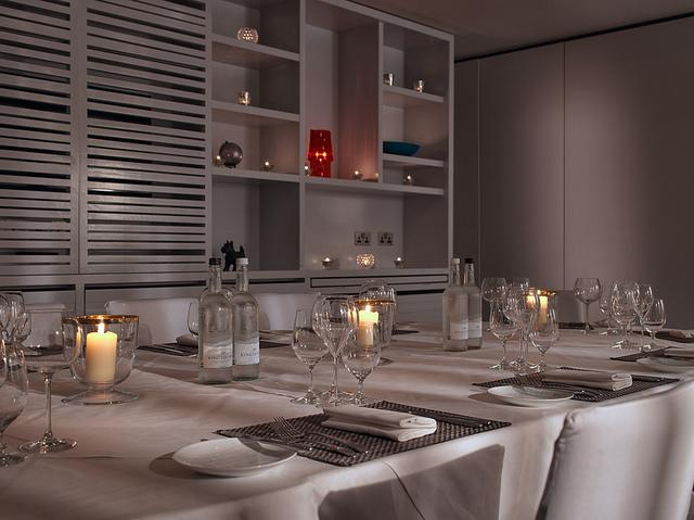 Murder mystery dining room at Malmaison Glasgow