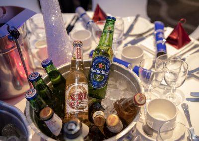 Ice bucket of full of beers