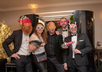 Photo booth entertainment at Christmas party