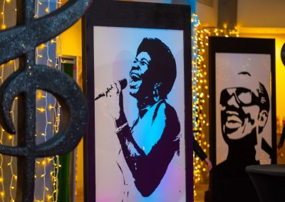 Motown Themed Event Decoration by West End Events
