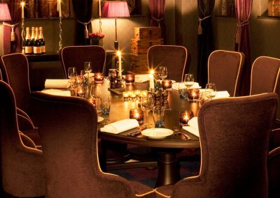 The Boudoir private dining at Malmaison Liverpool